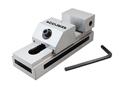 AccusizeTools - 4'' Precision Screwless Vise, Hardened and Ground, 0.0002'', (Ground Vise)