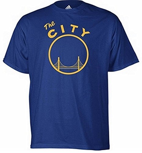 adidas Golden State Warriors Vintage The City Logo Blue T Shirt Large