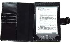 NAVITECH - Funda Polipiel Color Negro Estilo Estuche Para El Nuevo Kindle