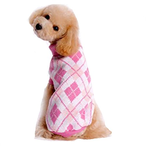 (Puppy Sweater, Howstar Pet Classic Warm Clothing Knitted Soft Sweatshirt Clothes (Pink,)