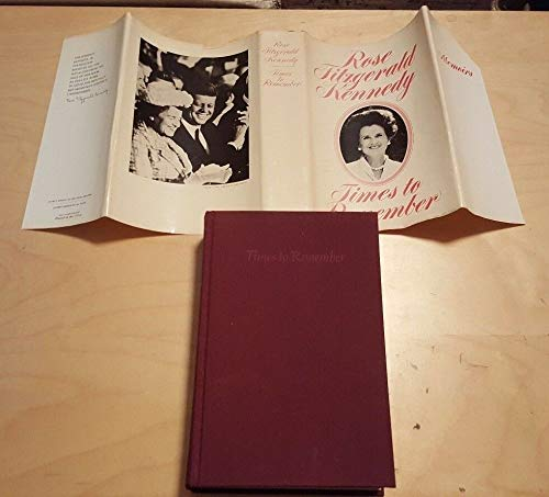 1974 ROSE FITZGERALD KENNEDY Times to Remember Hard, used for sale  Delivered anywhere in USA