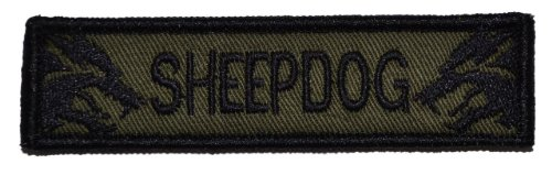 Sheepdog 1x3.75 inch Morale Patch - Olive Drab