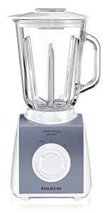 Taurus Optima Glass New - Batidora de vaso con jarra de cristal, 550 W, color blanco