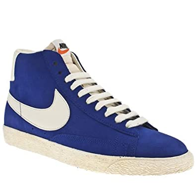 huge selection of 21ed2 10ed4 Nike Blazer High Suede Vintage - 9 Uk - Blue - Suede: Amazon ...