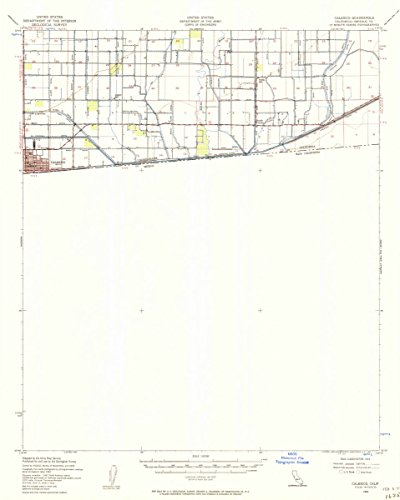 USGS Historical Topographic Map | 1940 Calexico, CA |Fine Art Cartography Reproduction - Calexico Map Ca