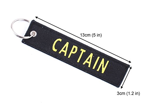 Personalized Embroidered Key Tags Custom Keychain Linen Woven Luggage Tag (Black)