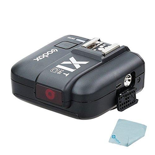 Mcoplus Godox X1T-C 2.4G Wireless Flash Trigger Single Transmitter for Canon EOS DSLR Camera Godox TT685C Speedlite X1R-C Receiver(X1T-C Trasmitter) Cleaning Cloth by Mcoplus