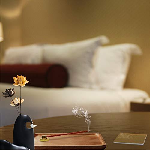 PHILOGOD Aromatherapy Incense for Pressure Relief, and Zen Meditation, Incense Burner Holder Included, Pure, Herbal Tibetan Incense Sticks for Homeopathy, with an Elegant Ceramic Incense Burner by PHILOGOD (Image #9)