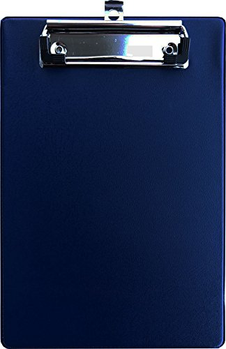 Blau, A5 Klemmbrett mit Kunststoff/überzug