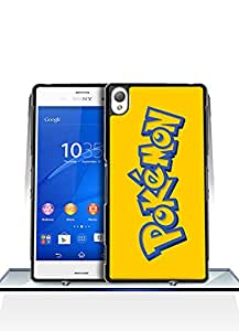 Sony Z3 Funda Case, Game - Pokemon Logo Impact Resistant Durable Aesthetic Personalized Style Anti Dust Extra Slim Compatible with Sony Xperia Z3 [Just fit for Z3]