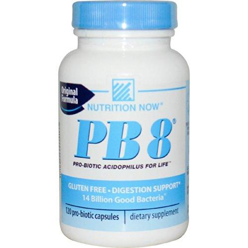 Pb 8 Original Formula Pro-biotic Acidophilus Nutrition Now Gluten Free Digestion Support 120 Capsules By - Probiotic Acidophilus Formula