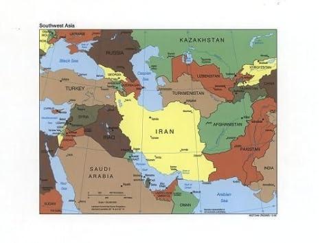 Amazon.com: 2000 Map Southwest Asia. - Size: 18x24 - Ready ...