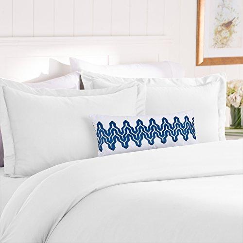 Elegant Comfort Best, Softest, Coziest Duvet Cover Ever! 1500 Thread Count Egyptian Quality Luxury Super Soft WRINKLE FREE 3-Piece Duvet Cover Set, Full/Queen, White (Queen Size White Duvet Cover)