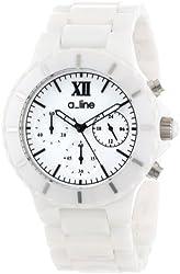 a_line Women's AL-20041-WWWSR Marina White Ceramic Bracelet Watch