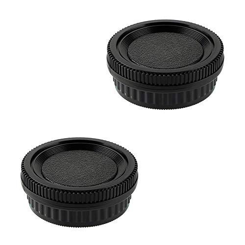 (2 Pack Camera Body Cap & Rear Lens Cap Compatible for Pentax K Mount DSLR Camera and Lens for K10D K20D K100D K100D Super K110D K200D K-1 K-01 K-3 K-5 K-5 II K-7 K-30 K-70 K-P K-S2 D DS DS2 DL2 645D)