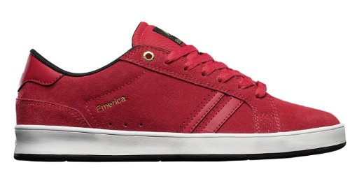 Emerica Men's The Leo 2 Skateboard Shoe,Red,12 M US - Reynolds Skateboard Shoe