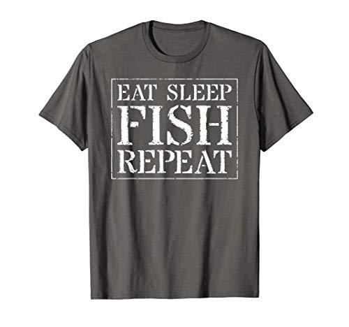 Fish T-shirt Eat - Fishing T Shirt For Men & Women: Eat Sleep Fish Repeat