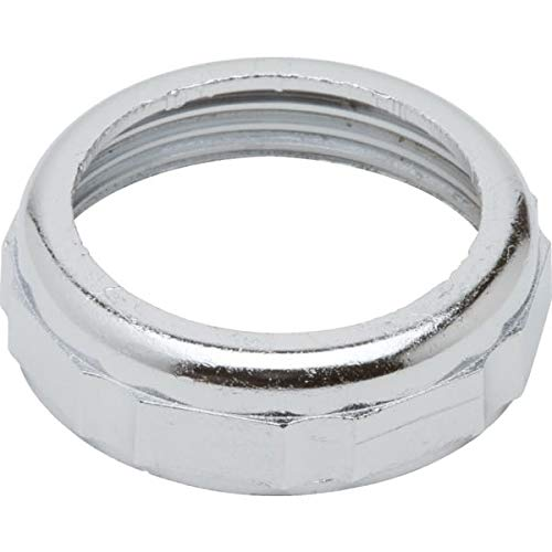 Sink Tubular Slip Joint Nut 1-1//4 X 1-1//4 Chrome Plated Zinc Package of 10