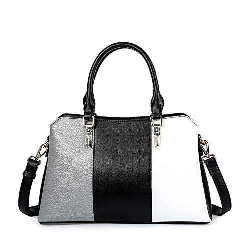 Borsa Versione color Marea Colore Femminile A Coreana Moda Black White White Del Contrasto Diagonale Tracolla Prendere qrxrz7pt