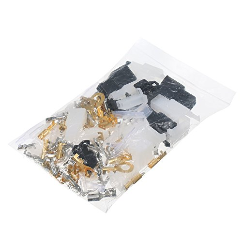 KKmoon 144 Pcs Male Female Connectors Wiring Loom Automotive Harness Auto Tin Plate Brass Terminal Maintenance Fixture Repair Kit: