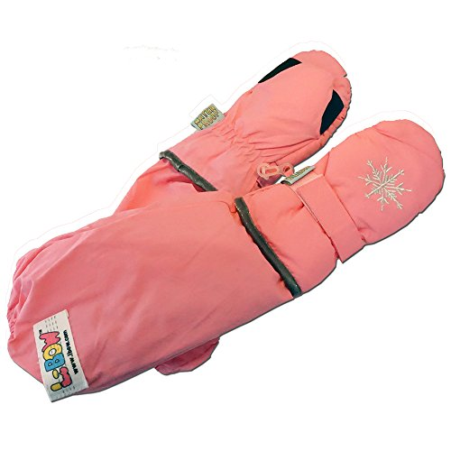 L-Bow Kids Snowflake Cold Weather Waterproof Elbow Length Mittens