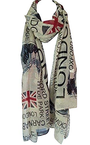 Tiny Susie Union Jack Scarf London Souvenir Gift Soft...