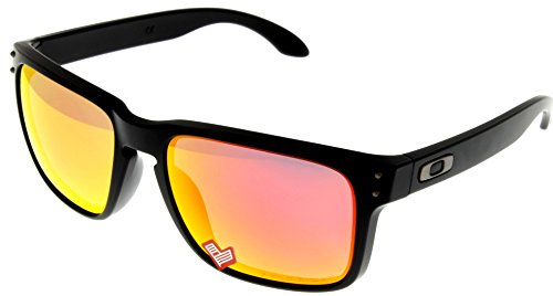 Oakley Holbrook Sunglasses Matte Black with Ruby Iridium Polarized Lens - Mens Sunglasses Oakley Cheap