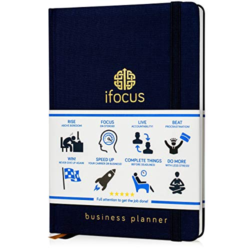 Productivity Planner Undated for Entrepreneurs! Focus Project Notebook for Business! 2019 2020 Best Daily Weekly Self Organizer Planner/Win The Day! Beat Procrastination! Ifocus - A5 Work Planner
