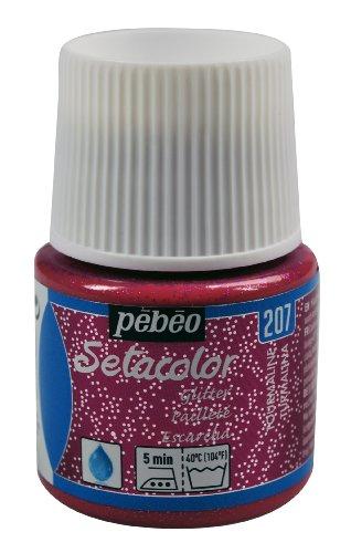 Pebeo Light Fabrics Glitter Setacolor Fabric Paint, 45ml, Tourmaline (Tourmaline Glitter)