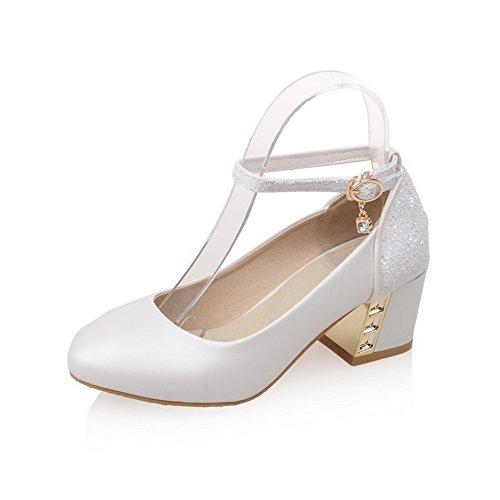 Balamasa Dames Chaton-talons Pointu Confort Chaussures Souples Chaussures-chaussures Beige