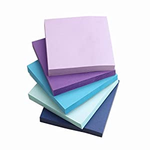 ZZTX Sticky Notes Assorted Watercolor Self-Stick Notes 10 Pads/Pack 100Sheets/Pad 3 inch X 3 inch Easy Post - Sticky Issue is Improved