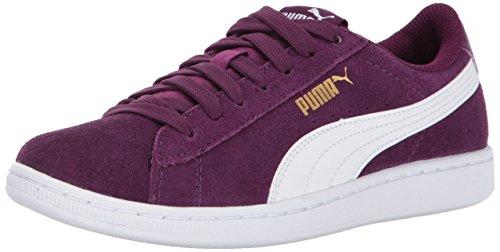PUMA Women's Vikky Sneakers - Dark Purple White (Large Image)