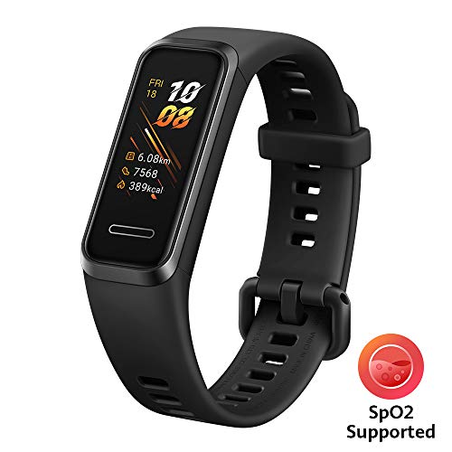 HUAWEI Band 4 Smart Band, Fitness Activities Tracker with 0.96″ Color Screen, 24/7 Continuous Heart Rate Monitor, Sleep Tracking, 5ATM Waterproof, up to 6 Days of Usage Time, Graphite Black