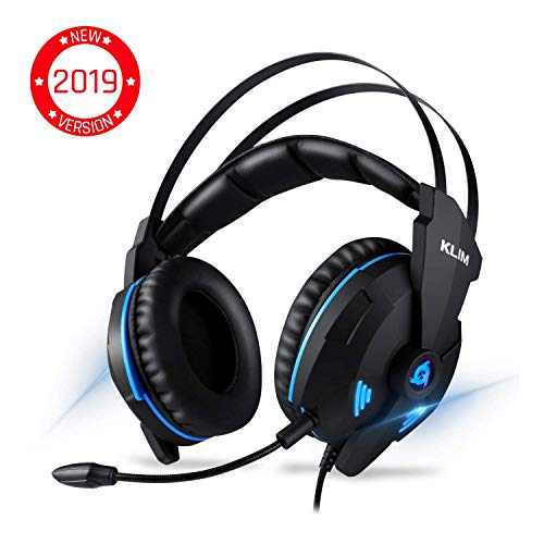KLIM Impact Gaming Headset - PS4 and PC - USB 7.1 Surround Sound - Noise Cancelling Headphones - Headphone with Microphone and Volume Control - HD Audio, Strong Bass, Mic - Acer Headphones Earphones