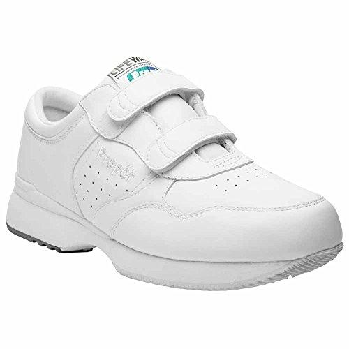 Propet Men's Life Walker Strap Sneakers,White,11.5 - Life Walker Shoe