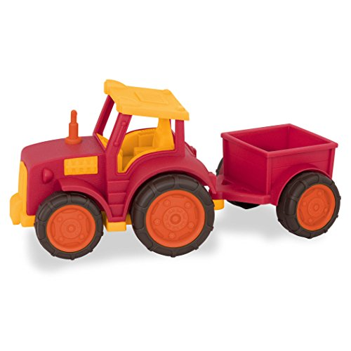 Wonder Wheels by Battat - Toddler Tractor Vehicle with Detachable Trailer for Kids 1+ (7pcs) ()