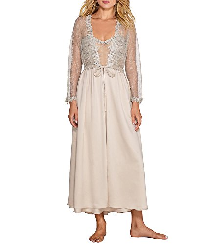 Flora Champagne - Flora Nikrooz Women's Showstopper Robe, Champagne, Small