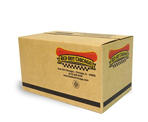 Red Hot Chicago Natural Casing Beef Franks 10 lbs. (approximately 60 count) by Red Hot Chicago