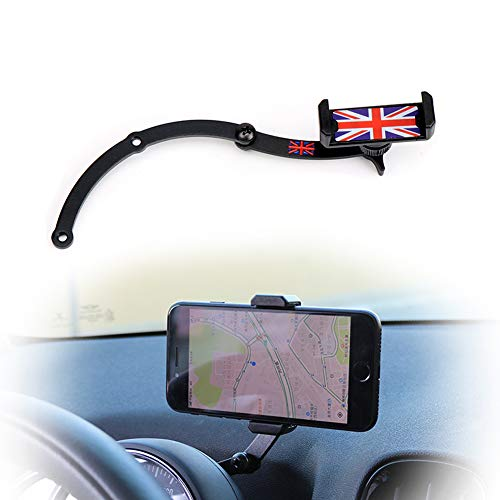 PGONE Behind Tachometer Mount Smart Phone GPS Mounting Design Holder Kit for Mini Cooper R55 R56 R57 R60 R61(2008-2013seris) Union Jack (Red & Blue Union Jack Flag Style)