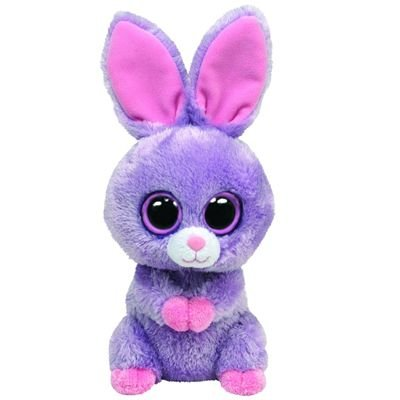 4186b1436c4 Image Unavailable. Image not available for. Color  Ty Beanie Boos Petunia  Purple Bunny