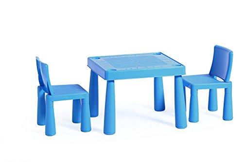 KadimaDesign 1 Mesa + sillas 2X Rachel Conjunto Mesa Azul: 51.5x51 ...