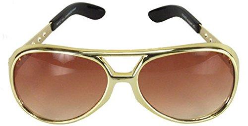 The King Rock Star Costume Accessory Aviator - Presley Sunglasses Elvis Style