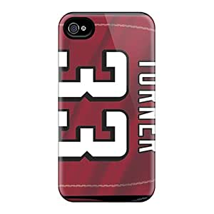 AnnaDubois Iphone 4/4s Bumper Cell-phone Hard Covers Provide Private Custom Colorful Atlanta Falcons Pattern [VMV9603wYOU]