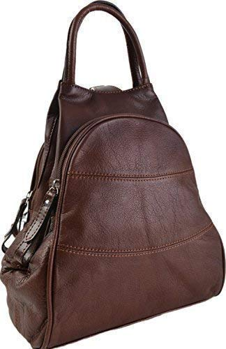 Gianni Conti Fine Italian Leather Medium Shoulder Rucksack Backpack 584849 Brown