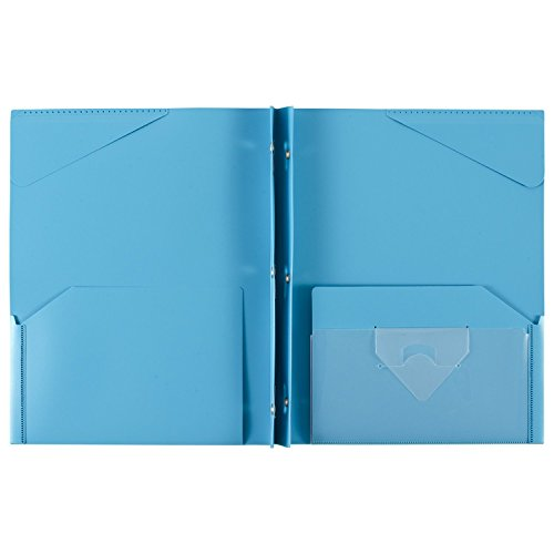 """043100340300 - Five Star Pocket Folder, 2 Pocket Stay-Put Plastic Folder, 11-5/8"""" x 9-5/16"""", Color Selected For You May Vary (34030) carousel main 2"""