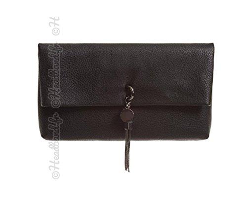 pompon noir Petit sac avec chaîne Hedea IwRqxFq