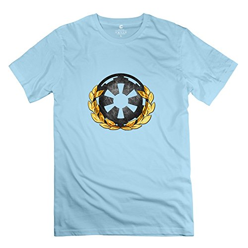 EnHui Customizable Guys Royal Empire 100% Cotton Tshirts Small SkyBlue