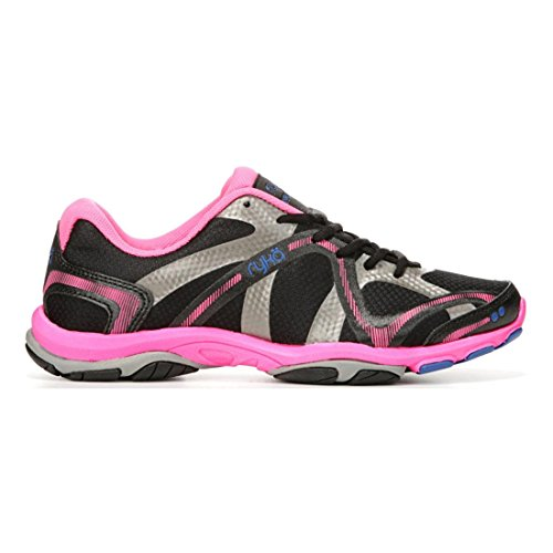 Ryka Women's Influence Black/Atomic Pink/Royal Blue/Forge Grey 10.5 Wide US