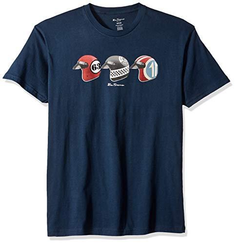 - Ben Sherman Men's Helmets Graphic TEE, Navy XXL