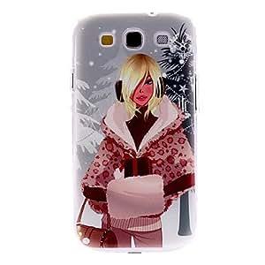 Winter Girl Pattern Hard Case for Samsung Galaxy S3 I9300